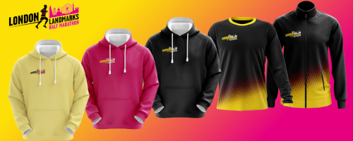 The London Landmark Half Marathon merchandise range