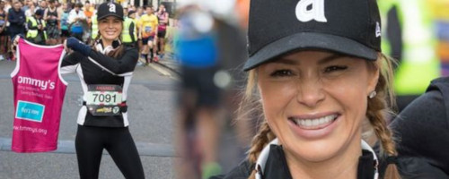 Amanda Holden at the London Landmarks Half Marathon 2019