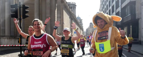 Runners at the London Landmarks Half Marathon 2019