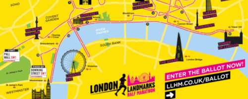 LLHM 2020 route map from Fundraising UK article