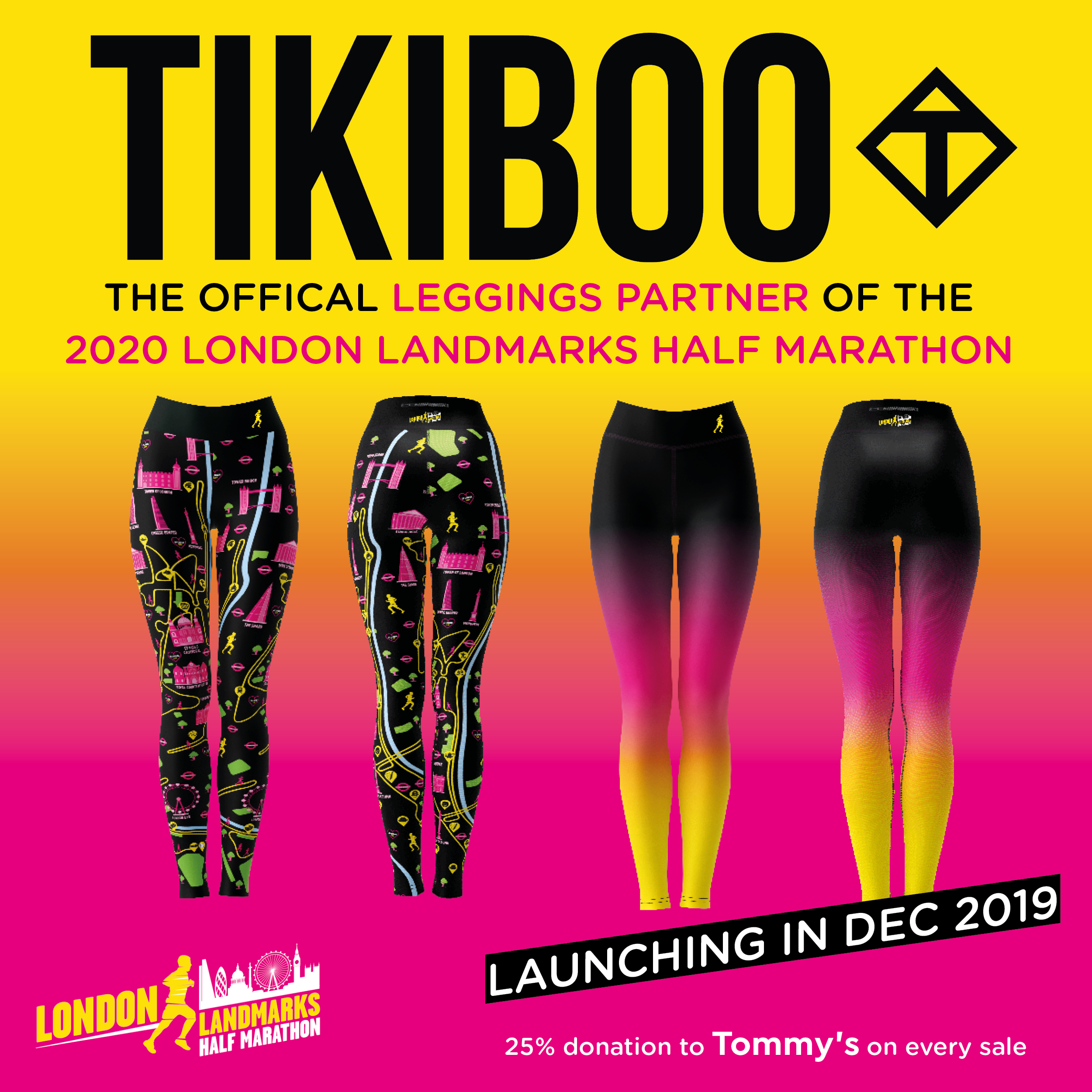 Tikiboo Leggings for London Landmarks Half Marathon December 2019
