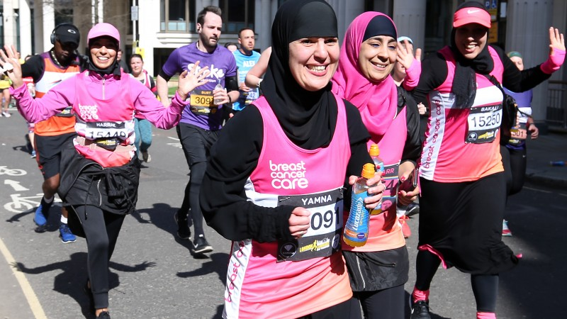 Women running for Breast Cancer Care