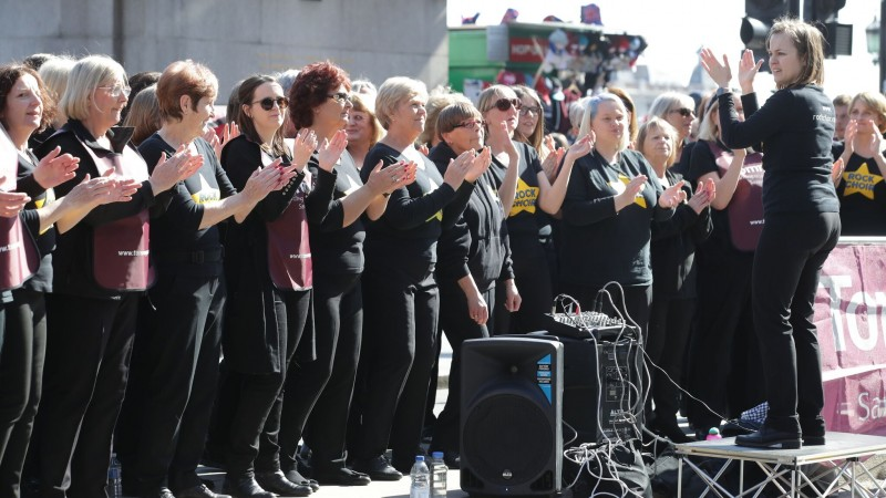 Rock Choir at the London Landmarks Half Marathon