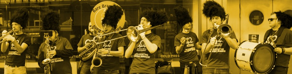 BHF brass band at the London Landmarks Half Marathon
