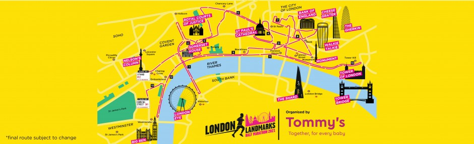 LLHM 2021 Route Map