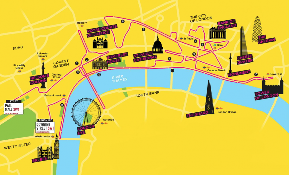 LLHM running route map